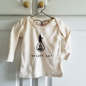 L'ovedbaby organic long sleeved graphic tee 9-12